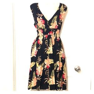 Roxy Hawaiian print dress